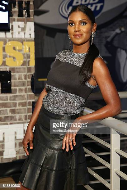 Actress Denise Boutte visits Buffalo Wild Wings Times Square at Buffalo Wild Wings on October 10 2016 in New York City