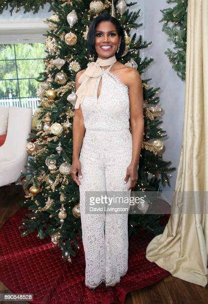 Actress Denise Boutte visits Hallmark's 'Home Family' at Universal Studios Hollywood on December 11 2017 in Universal City California