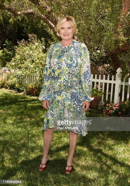 "Actress Denise Crosby visits Hallmark's ""Home & Family"" at Universal Studios Hollywood on July 23, 2019 in Universal City, California."