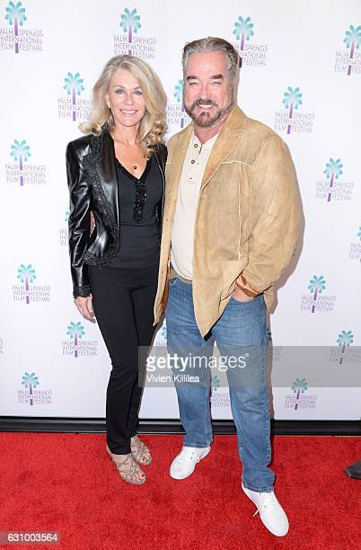 "Actress Denise DuBarry and actor John Callahan attend the World Premiere of ""Do It Or Die"" at the 28th Annual Palm Springs International Film..."