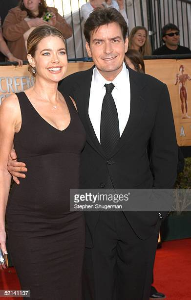 Actress Denise Richards and actor Charlie Sheen arrive at the 11th Annual Screen Actors Guild Awards at the Shrine Exposition Center on February 5,...