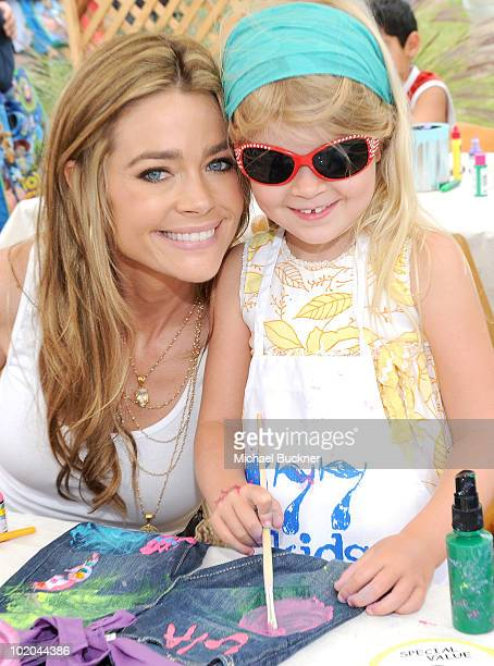 Actress Denise Richards and daughter Lola Rose Sheen attend the 77kids by American Eagle Denim Decorating booth at A Time For Heroes Picnic...