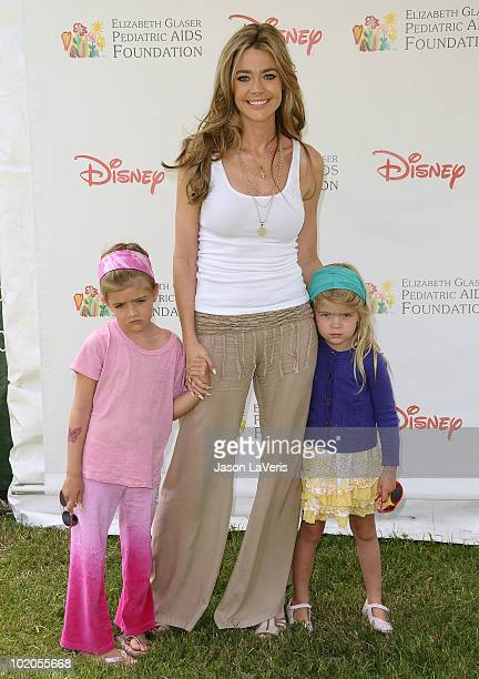 Actress Denise Richards and daughters Sam Sheen and Lola Sheen attend the 21st annual A Time For Heroes celebrity picnic benefit at Wadsworth Theater...