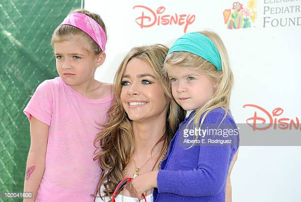 Actress Denise Richards and her daughters Sam Sheen and Lola Rose Sheen arrive at the 21st A Time For Heroes Celebrity Picnic sponsored by Disney to...