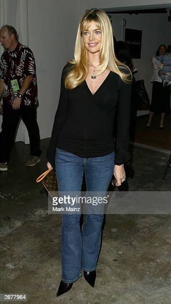 Actress Denise Richards attends Nom by Jennifer Noonan fashion show during the MercedesBenz Shows LA 2004 Spring Collections at The Avenue in the...