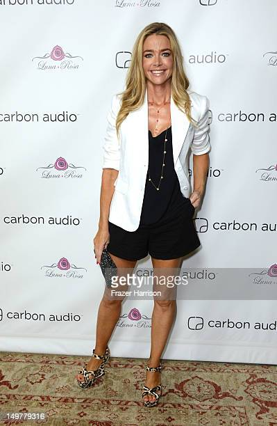 Actress Denise Richards attends the Carbon Audio's Zooka Launch Party on August 3 2012 in West Hollywood California