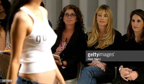 Actress Denise Richards attends the Jennifer Noonan fashion show during the MercedesBenz Shows LA 2004 Spring Collections at The Avenue in the...