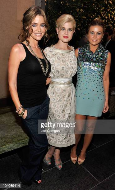 Actress Denise Richards media personality/singer Kelly Osbourne and actress Carmen Electra at the Chris Benz Spring 2011 presentation during...