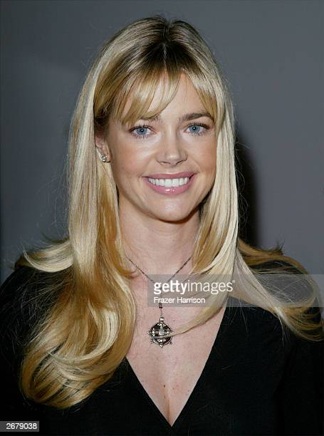 Actress Denise Richards mingles backstage at the Nom by Jennifer Noonan fashion show during the MercedesBenz Shows LA Spring 2004 Collections at The...