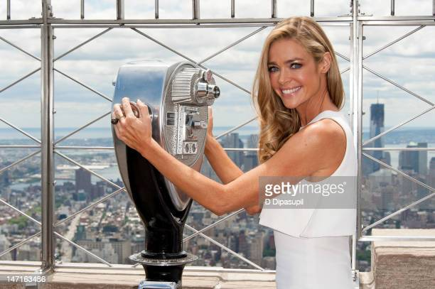Actress Denise Richards visits The Empire State Building on June 26, 2012 in New York City.