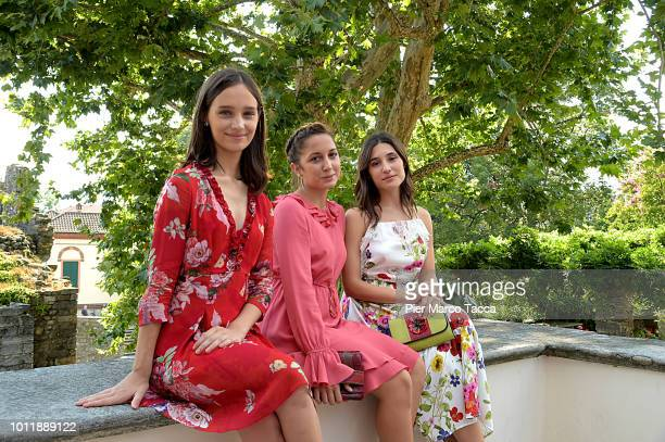 Actress Denise Tantucci Actress Blu Yoshimi and Actrss Angela Fonata pose for a portrait session during the 71st Locarno Film Festival on August 5...