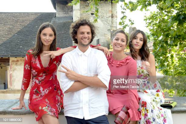 Actress Denise Tantucci Director Leonardo Guerra Seragnoli Actress Blu Yoshimi and Actrss Angela Fonata pose for a portrait session during the 71st...