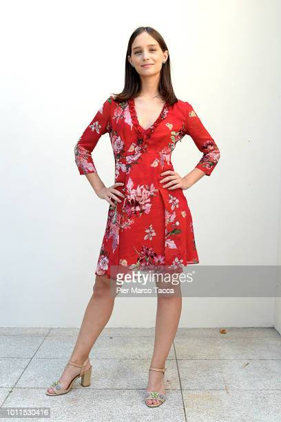 Actress Denise Tantucci poses for a portrait session during the 71st Locarno Film Festival on August 5 2018 in Locarno Switzerland