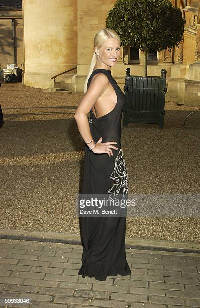 Actress Denise Van Outen attends the 14th 'Louis Vuitton Classic' car event and celebration of the designer brand's 150th anniversary at Waddesdon...