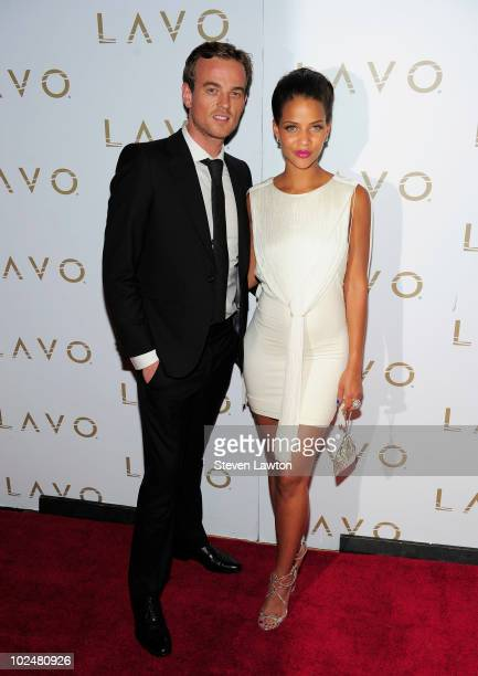 Actress Denise Vasi and guest arrive at the 'All My Children' Daytime Emmy Post Award Celebration at Lavo on June 27 2010 in Las Vegas Nevada