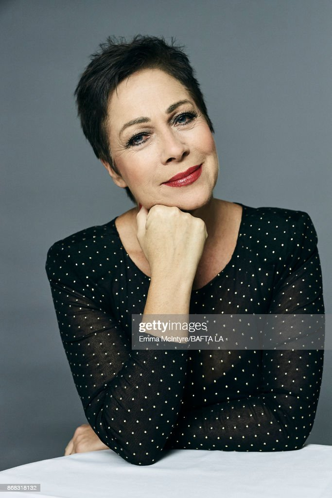 Actress Denise Welch is photographer at the 2017 AMD British Academy Britannia Awards on October 27, 2017 in Los Angeles, California.