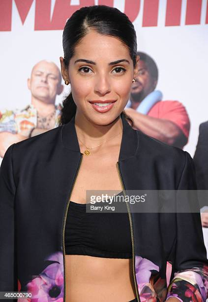 Actress Denise Xavier attends the premiere of 'Hot Tub Time Machine 2' at Regency Village Theatre on February 18 2015 in Westwood California