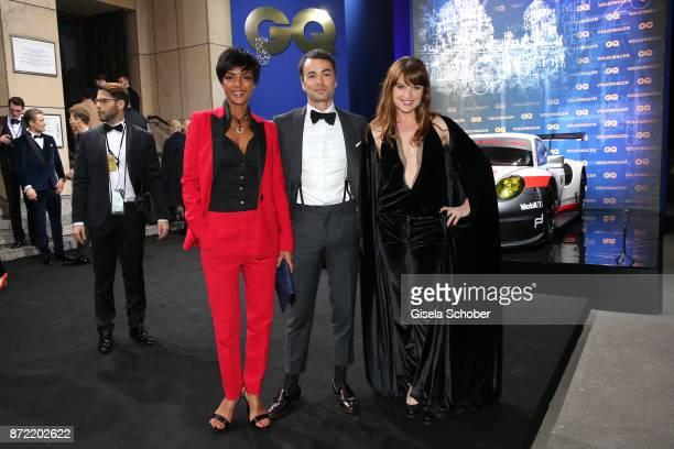 Actress Dennenesch Zoude, Nikolai Kinski and girlfriend Ina Paule Klink arrives for the GQ Men of the year Award 2017 at Komische Oper on November 9,...