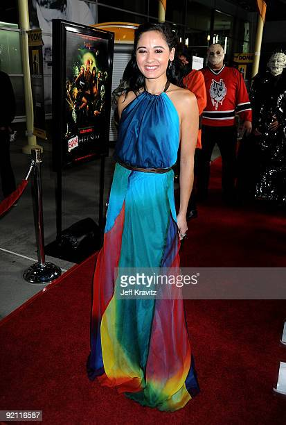 Actress Denyc arrives at the premiere of 'Stan Helsing' Bo Zenga's hilarious horror film parody held at ArcLight Hollywood on October 20 2009 in...