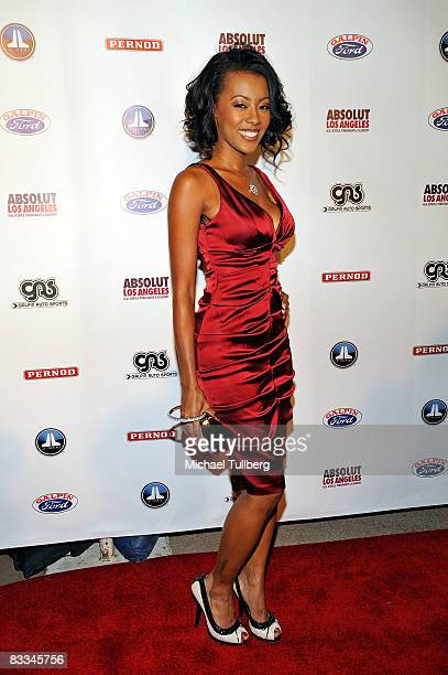 Actress Denyce Lawton arrives at the benefit grand opening of celebrity vehicle customization shop Galpin Auto Sports on October 18 2008 in Van Nuys...