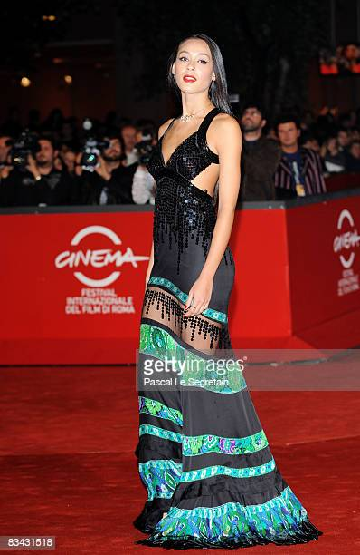 Actress Desire Noferini attends the A Game For Girls Premiere during the 3rd Rome International Film Festival held at the Auditorium Parco della...