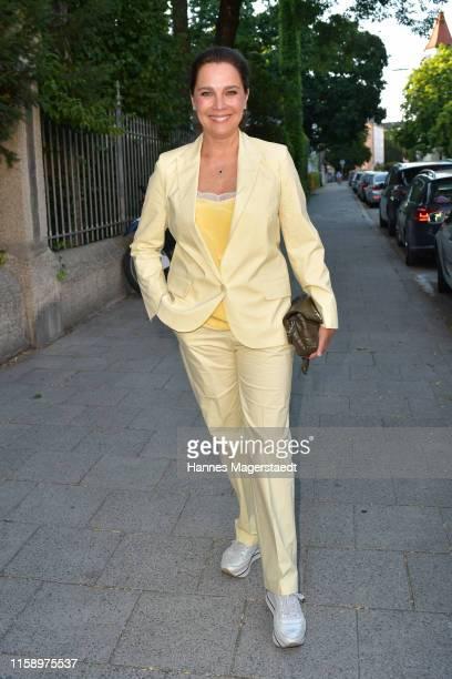 Actress Desiree Nosbusch attends the ARD Degeto Reception during the Munich Film Festival 2019 at Kaisergarten on June 28 2019 in Munich Germany