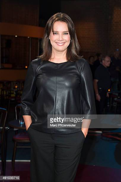 Actress Desiree Nosbusch attends the 'Koelner Treff' TV Show at the WDR Studio on October 2 2015 in Cologne Germany