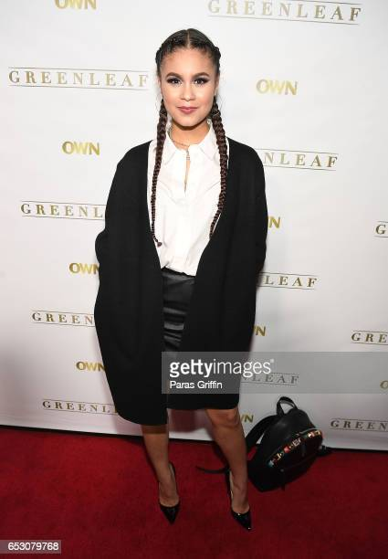 Actress Desiree Ross attends Greenleaf Season 2 Premiere Party at W Atlanta Midtown on March 13 2017 in Atlanta Georgia