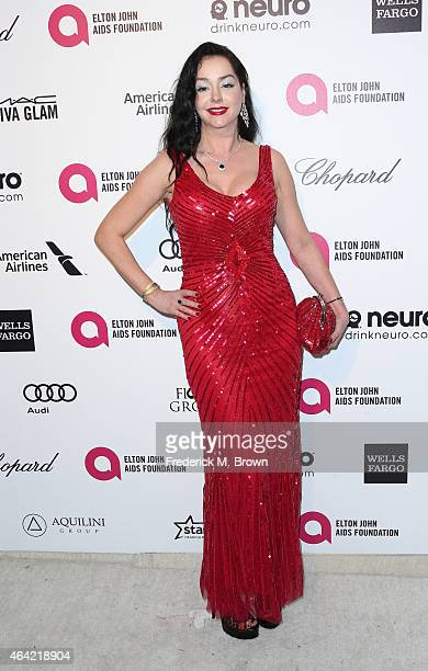 Actress Despina Mirou attends the 23rd Annual Elton John AIDS Foundation's Oscar Viewing Party on February 22 2015 in West Hollywood California