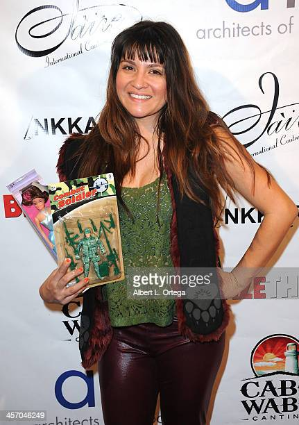 Actress Destiny Soria attends Britticares Toy Drive with a benefit concert by G Tom Mac Many Of Odd Nature in conjunction with publicist Michael...