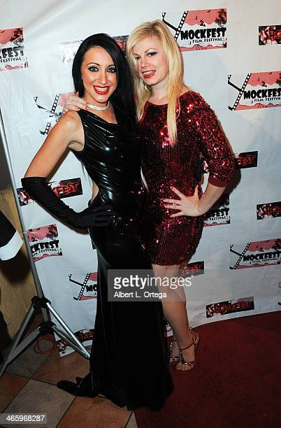 Actress DeVanny Pinn and actress Jessica Cameron attend the ShockFest Film Festival Awards held at Raleigh Studios on January 11 2014 in Los Angeles...