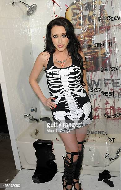 Actress Devanny Pinn arrives for ScreamFest 2014 'See No Evil 2' Screening held at TCL Chinese 6 Theatres on October 15 2014 in Hollywood California