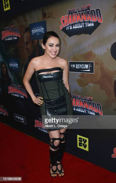Actress Devanny Pinn arrives for the Premiere Of The Asylum And Syfy's 'The Last Sharknado It's About Time' held at Cinemark Playa Vista on August 19...