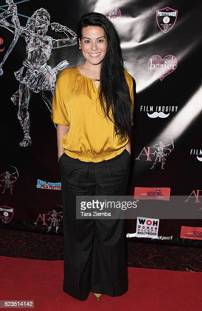 Actress Devanny Pinn attends the 2nd Annual Artemis Film FestvialRed Carpet Opening Night/Awards Presentation at Ahrya Fine Arts Movie Theater on...