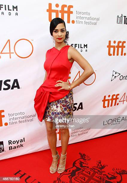 Actress Devika Bhise attends The Man Who Knew Infinity premiere during the 2015 Toronto International Film Festival at Roy Thomson Hall on September...