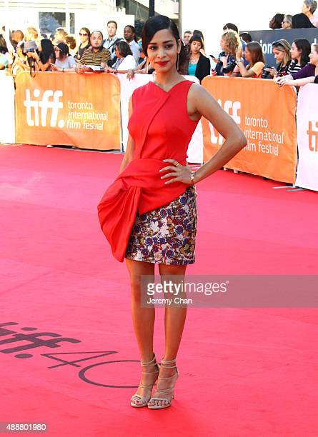 """Actress Devika Bhise attends """"The Man Who Knew Infinity"""" premiere during the 2015 Toronto International Film Festival at Roy Thomson Hall on..."""