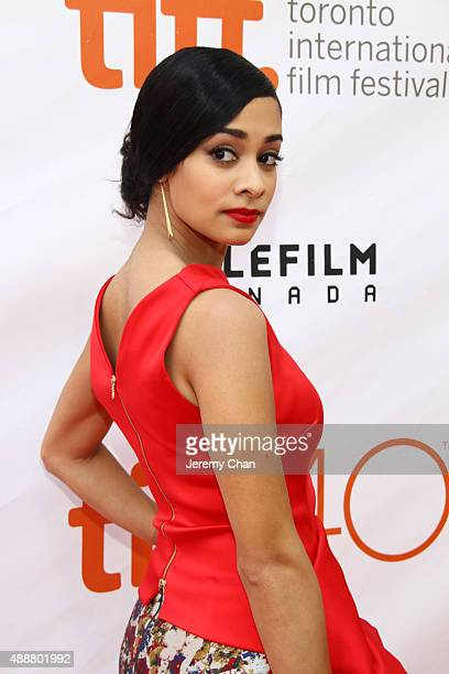 Actress Devika Bhise attends 'The Man Who Knew Infinity' premiere during the 2015 Toronto International Film Festival at Roy Thomson Hall on...