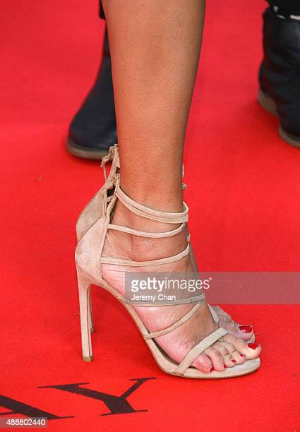 Actress Devika Bhise shoe detail attends 'The Man Who Knew Infinity' premiere during the 2015 Toronto International Film Festival at Roy Thomson Hall...