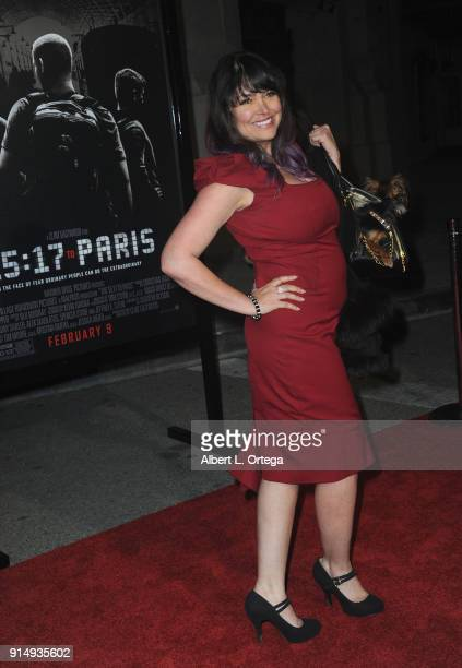 Actress Devin DeVasquez arrives for the Premiere Of Warner Bros Pictures' The 1517 To Paris held at Steven J Ross Theater/Warner Bros Studios Lot on...