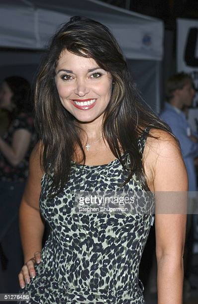 Actress Devin Devasquez attends the premiere of VLAD at the Arclight Theater on September 8 2004 in Hollywood California