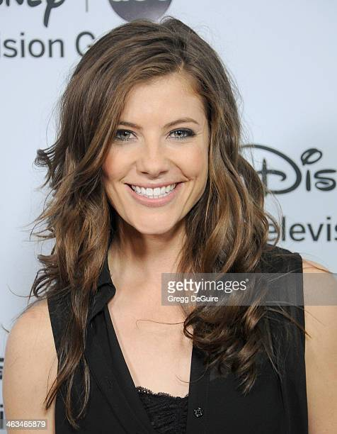 Actress Devin Kelley arrives at the ABC/Disney TCA Winter Press Tour party at The Langham Huntington Hotel and Spa on January 17 2014 in Pasadena...
