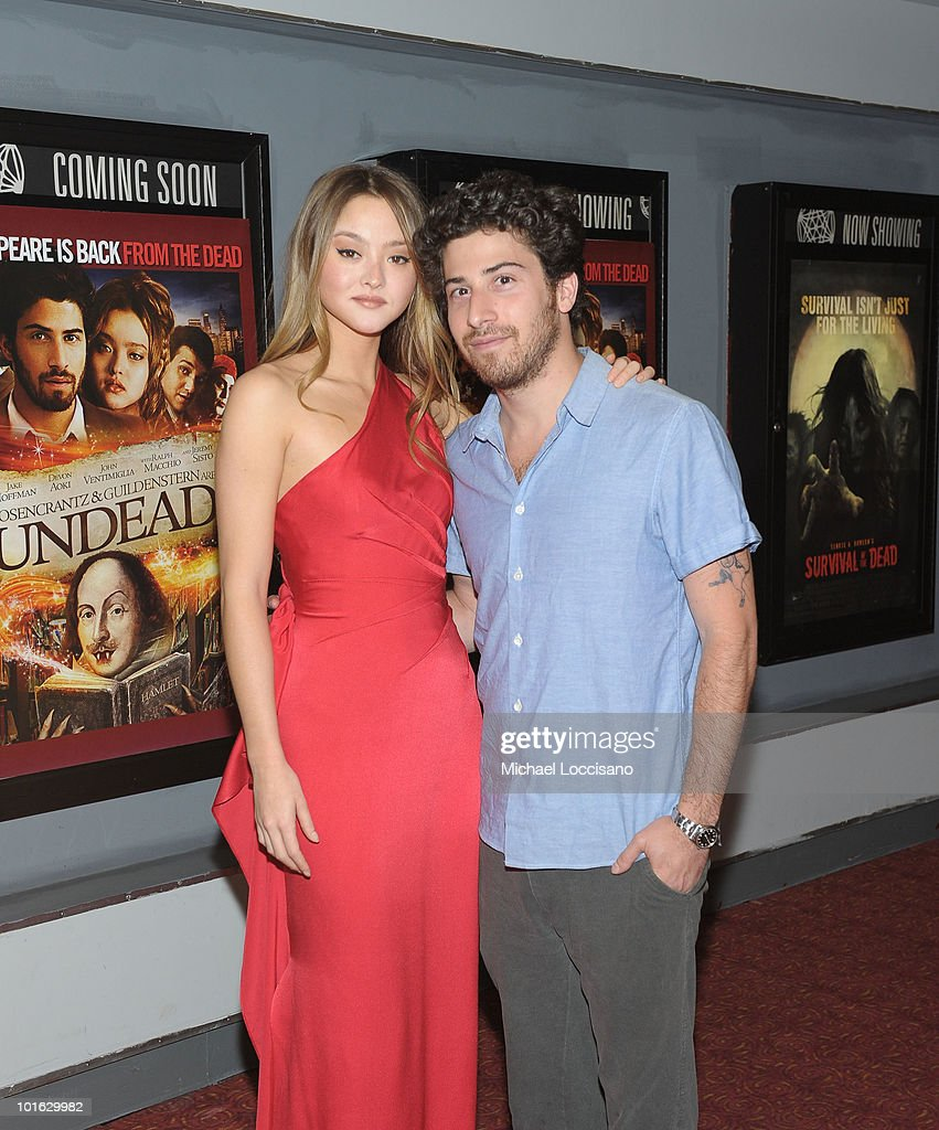 Actress Devon Aoki and actor Jake Hoffman attend the premiere of 'Rosencrantz and Guildenstern Are Undead' at Village East Cinema on June 4, 2010 in New York City.