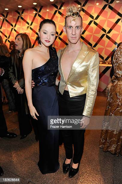 Actress Devon Aoki and artist Jeremy Scott attend 2011 MOCA Gala An Artist's Life Manifesto Directed by Marina Abramovic at MOCA Grand Avenue on...