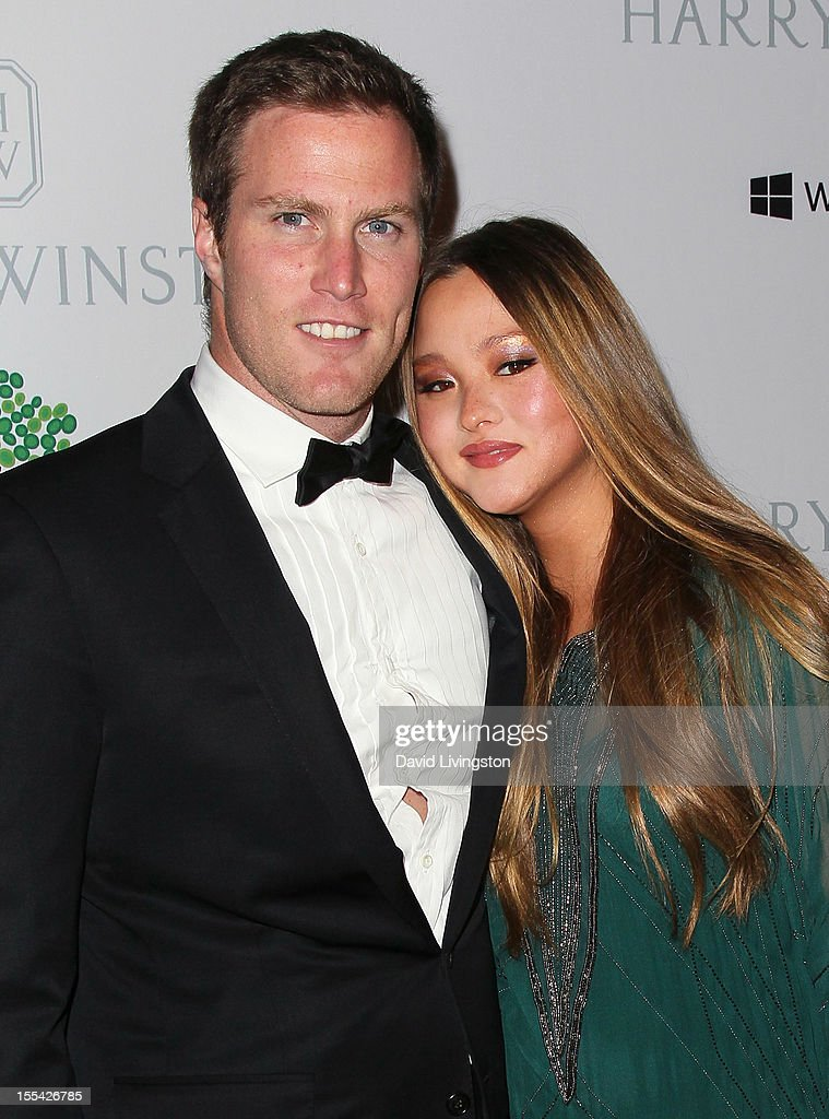 Actress Devon Aoki (R) and husband financier James Bailey attend the 1st Annual Baby2Baby Gala at The BookBindery on November 3, 2012 in Culver City, California.