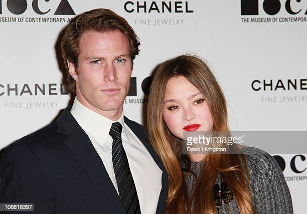 Actress Devon Aoki and James Bailey arrive at The Artist's Museum Happening MOCA Los Angeles Gala held at MOCA Grand Avenue on November 13 2010 in...