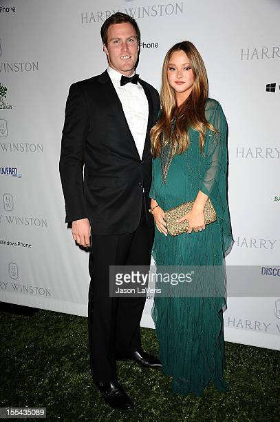 Actress Devon Aoki and James Bailey attend the 1st annual Baby2Baby gala at Book Bindery on November 3 2012 in Culver City California