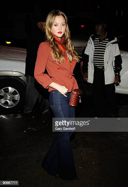 Actress Devon Aoki attends Olivia Spring 2010 during MercedesBenz Fashion Week at 415 West 13th Street on September 12 2009 in New York City