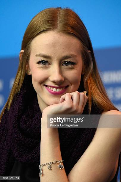 Actress Devon Keller attends the 'Petting Zoo' press conference during the 65th Berlinale International Film Festival at Grand Hyatt Hotel on...