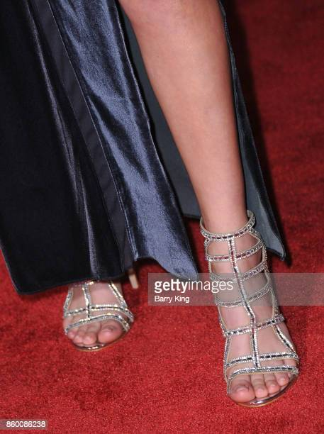 Actress DeVore Ledridge shoe detail attends the World premiere of Disney and Marvel's 'Thor Ragnarok' at El Capitan Theatre on October 10 2017 in Los...
