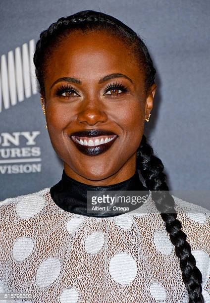 Actress DeWanda Miller arrives for the premiere of Premiere Of WGN America's Underground held at The Theatre At The Ace Hotel on March 2 2016 in Los...